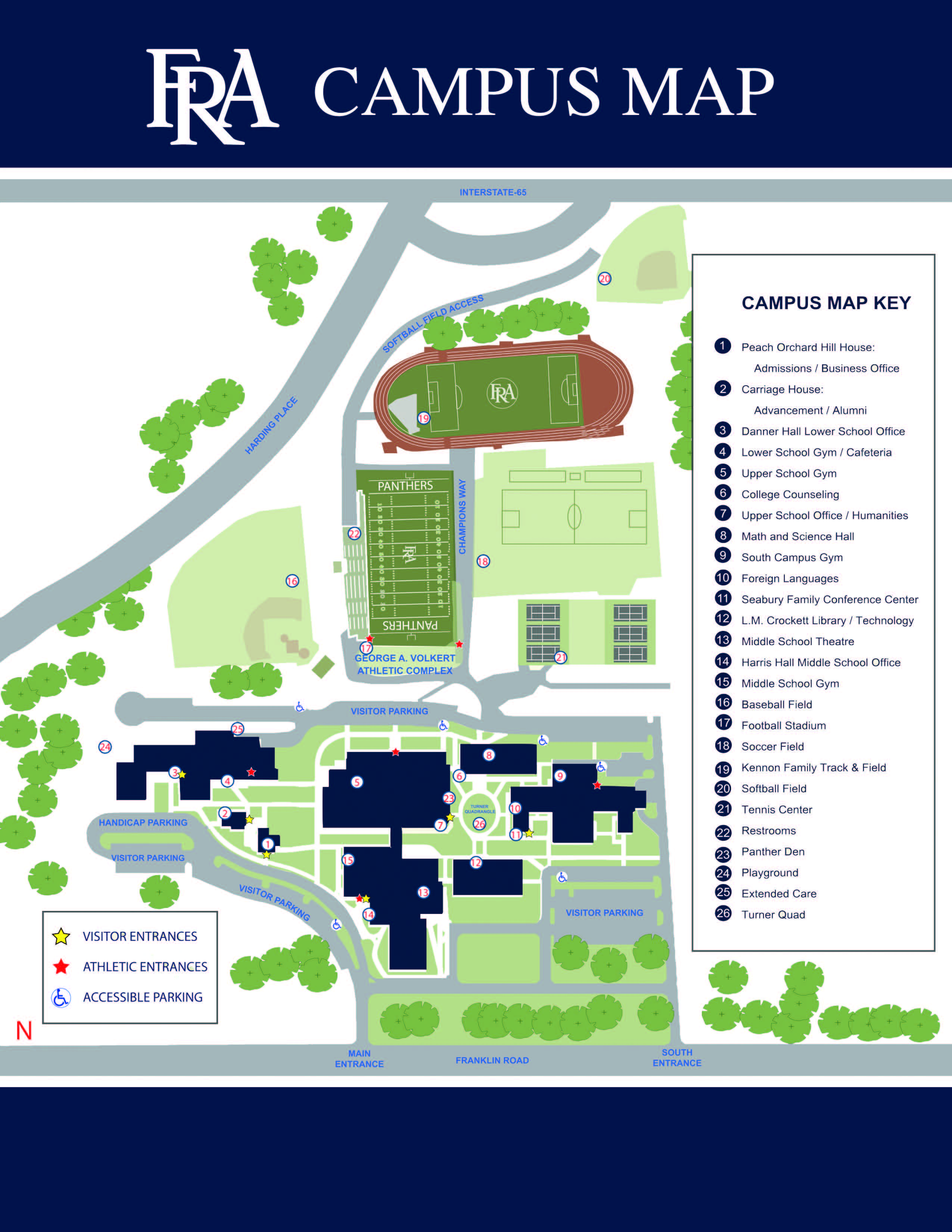FRA Campus Map