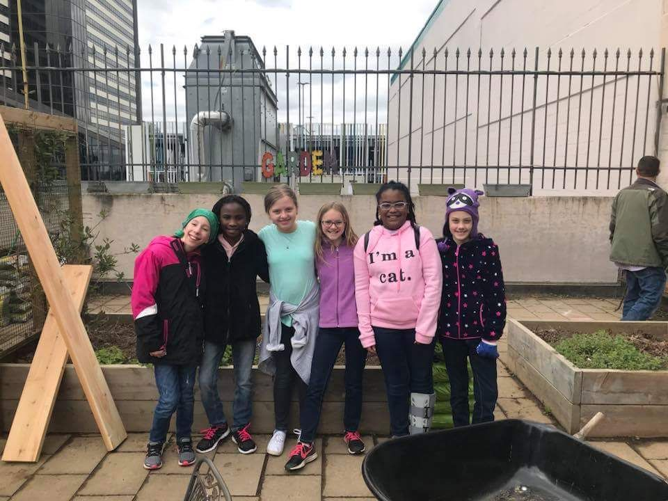 Fifth Grade Girl Scouts Complete Bronze Project; Help Local Church