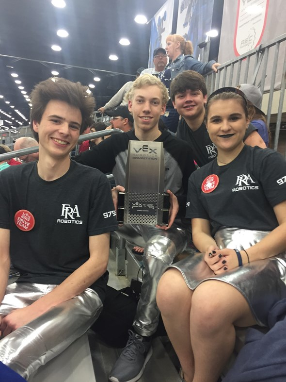 Robotics Team Wins THINK Award at World Championship